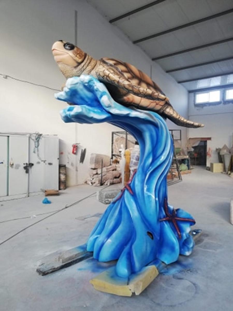 Sea Turtle Monument in Tunisia